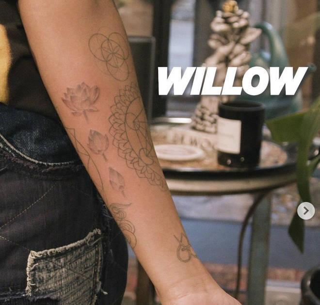 Willow Smith Lotus Tattoo