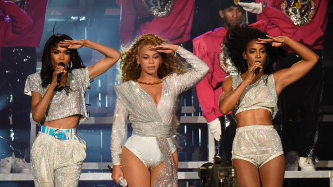 Destiny's Child reunited on stage to perform during the 2018 Coachella Valley Music And Arts Festival .