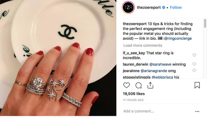 Ariana Grande Responds To Instagram Post About Engagement Rings