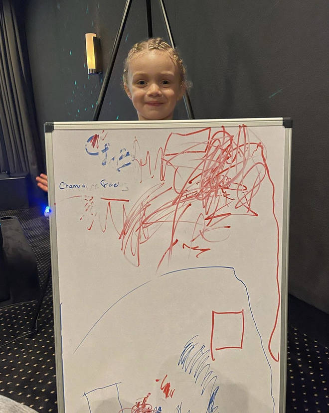 Drake reveals he can't seem to put together his new album tracklist due to Adonis drawings on his board.