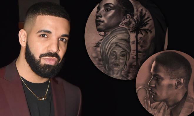 Drake's tattoos