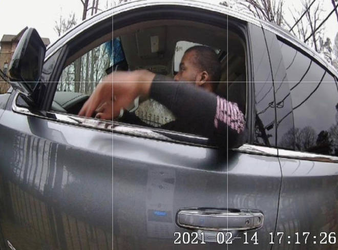 The CCTV footage shows Jaylan driving a car on February 14 (Valentine's Day), February 15 and February 16.