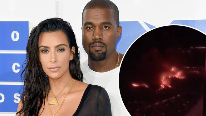 Kim Kardashian revealed that the flames hit her family home in the Hidden Hills