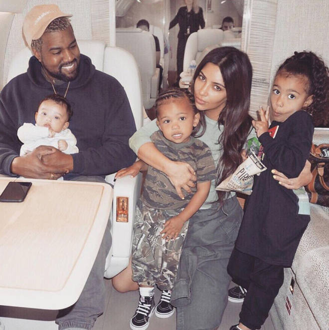 Kanye, Kim and their children North, Saint and Psalm