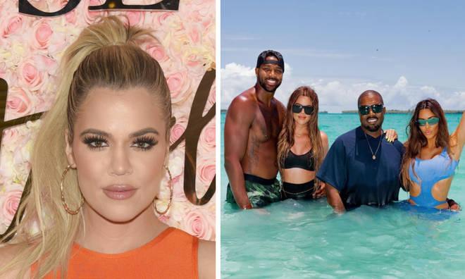 Khloe Kardashian, Tristan Thompson, Kanye West and Kim Kardashian