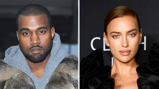 Kanye West & Irina Shayk arrive on private jet together after 'romantic getaway' in France