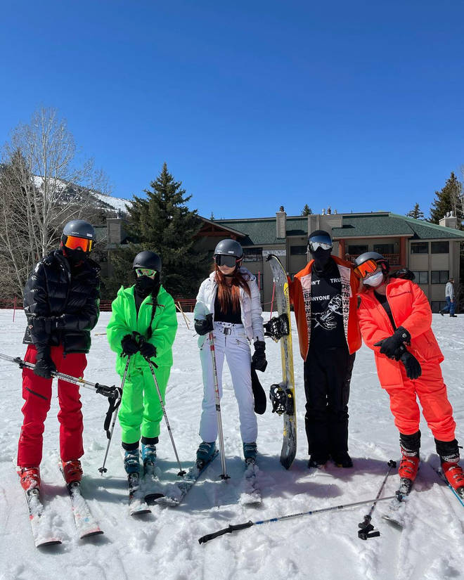 Travis and Kourtney took a family trip to Utah.