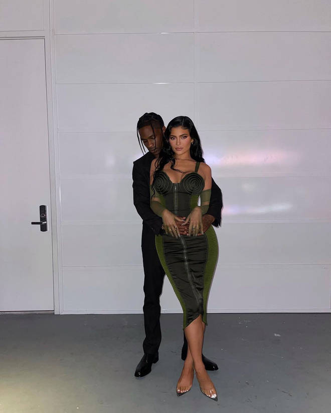 Kylie posted a cosy photo of herself and her ex-boyfriend before the event.