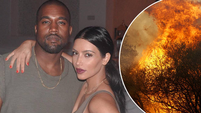 Kim and Kanye saved their neighbours homes from perishing in the Woolsey Fire.