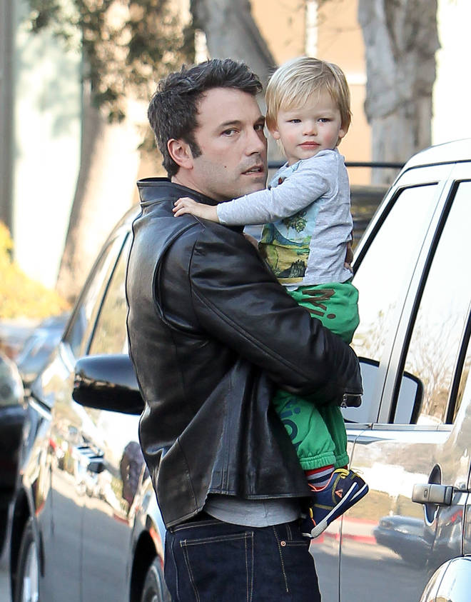 Ben and his son Samuel in 2013