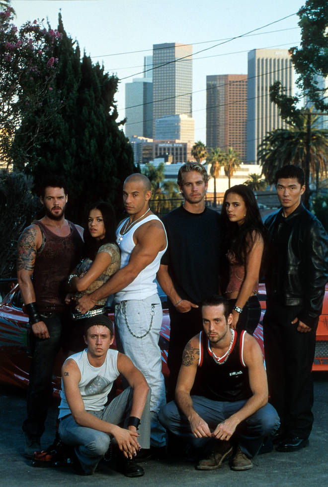 The cast of the original 'The Fast And The Furious' film in 2001