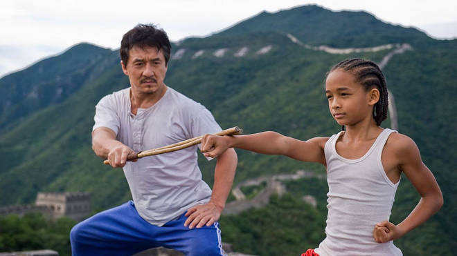 Jaden Smith (right) starred in the 2010 hit movie alongside Jackie Chan (left).