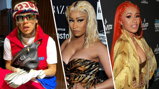 Tekashi 6ix9ine, Nicki Minaj and Cardi B