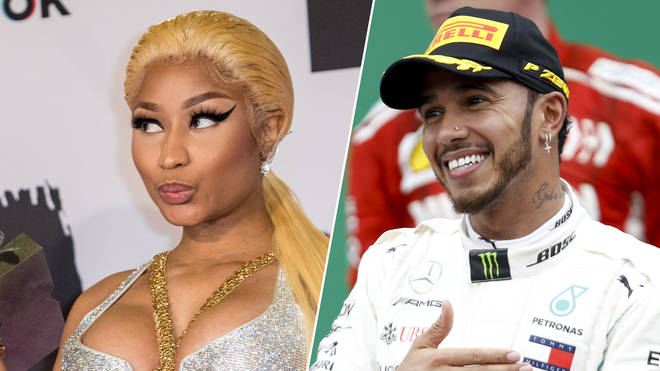 Nicki Minaj and lewis Hamilton have been romantically linked since September.