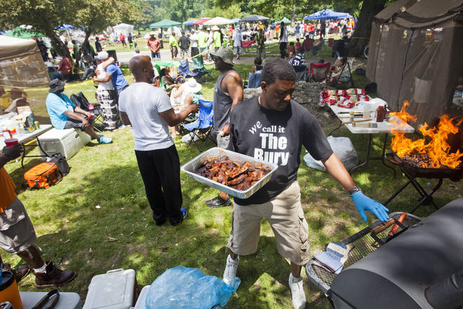 Juneteenth is celebrated by public gatherings, food and drink, street fairs & more.
