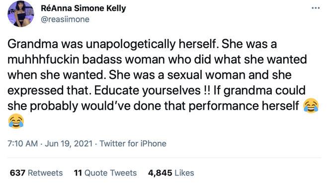 Nina Simone's granddaughter defended Chloe