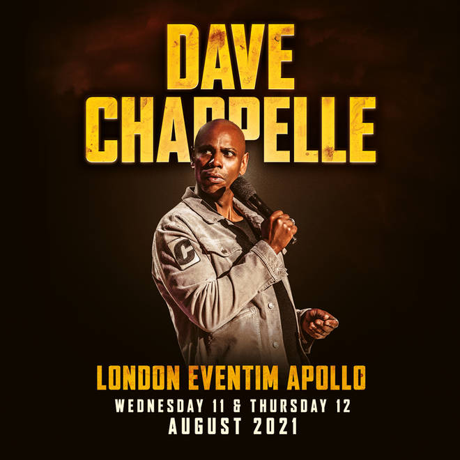 Dave Chapelle is bringing his latest live stand-up show to London this summer.