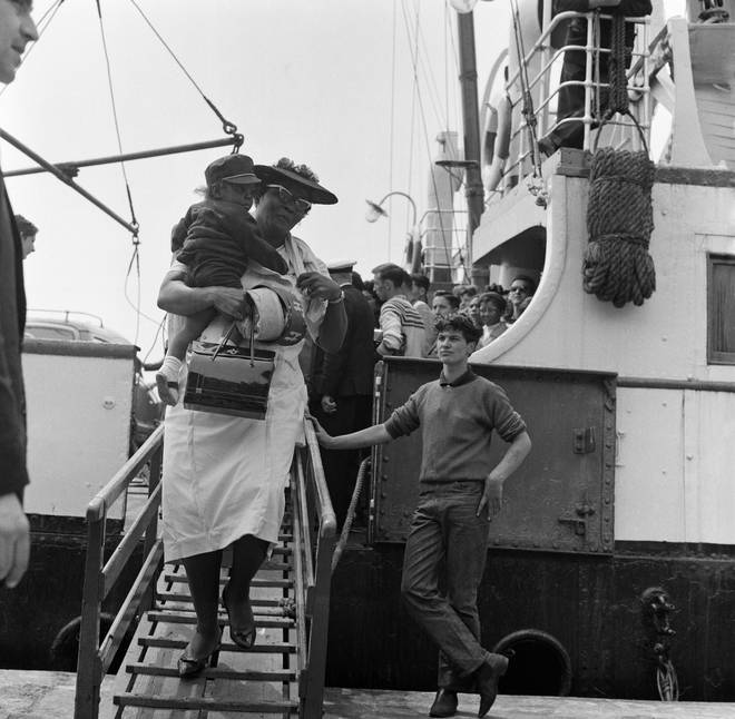 West Indian immigrants arriving in the United Kingdom, 30th June 1962.
