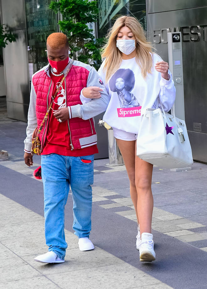 Wendy Williams are Ray J are seen walking in soho on June 28, 2021 in New York City.