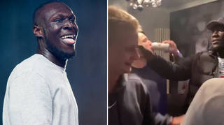Stormzy joins fans to celebrate England's win