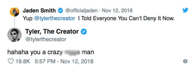 Jaden Smith 'Confirming' Relationship With Tyler The Creator