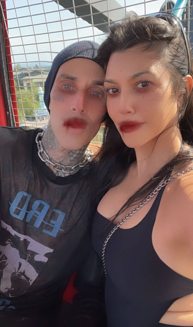 The pair uploaded a selfie