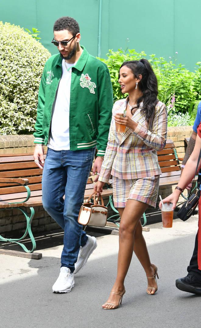 The pair enjoyed Wimbledon together