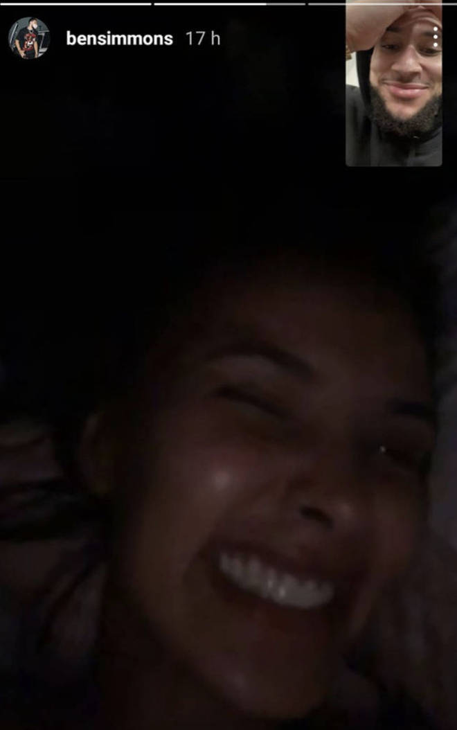 Ben Simmons shared a screenshot of a FaceTime call with Maya Jama back in June.