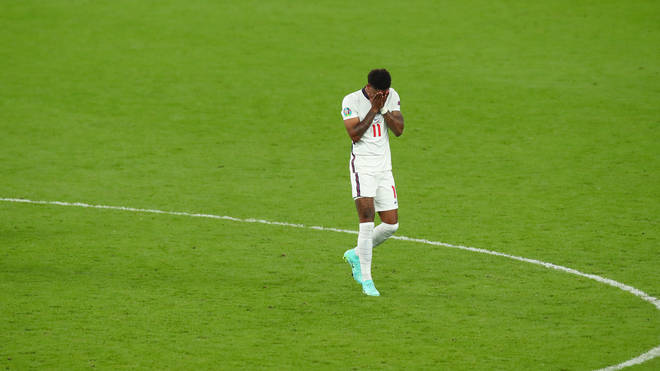 The Manchester United player was devastated after he missed a penalty.