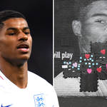 Marcus Rashford responds to racial abuse after mural is left defaced.