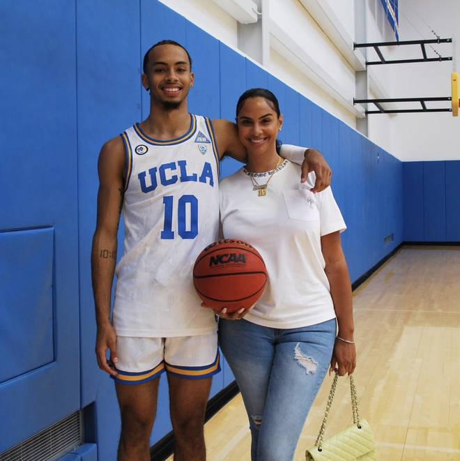 Johanna Leia's son is Sierra Canyon high school student and basketball star Amari Bailey.