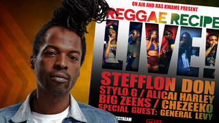 Reggae Recipe Live! with On Air & Ras Kwame: tickets, dates, line-up & more