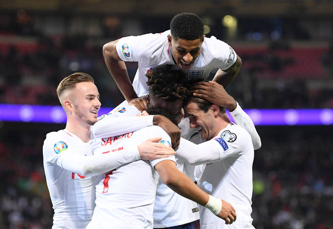 The England team made it to the Euro's semi-final