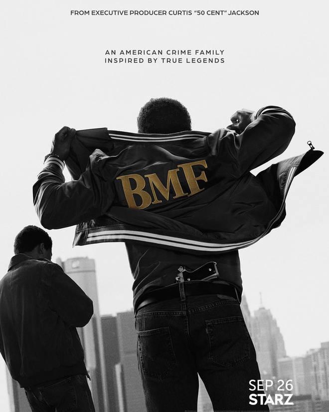 50 Cent shares BMF poster on Instagram.
