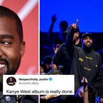 Kanye West hosted a listening party in Las Vegas