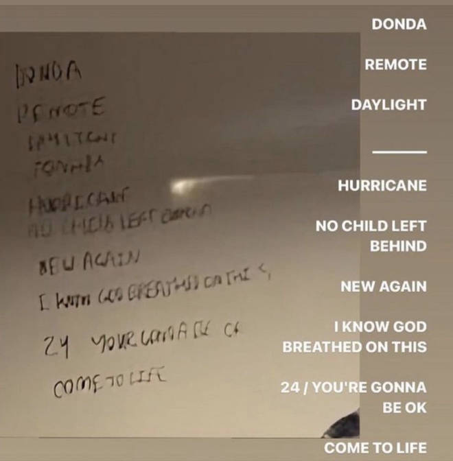 Kanye West alleged tracklist for his new album