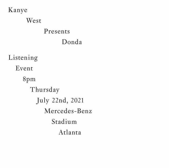 Pusha T shares details of Kanye West's album listening event on Instagram.