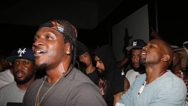 Kanye was caught up in the beef between Kanye and Pusha T