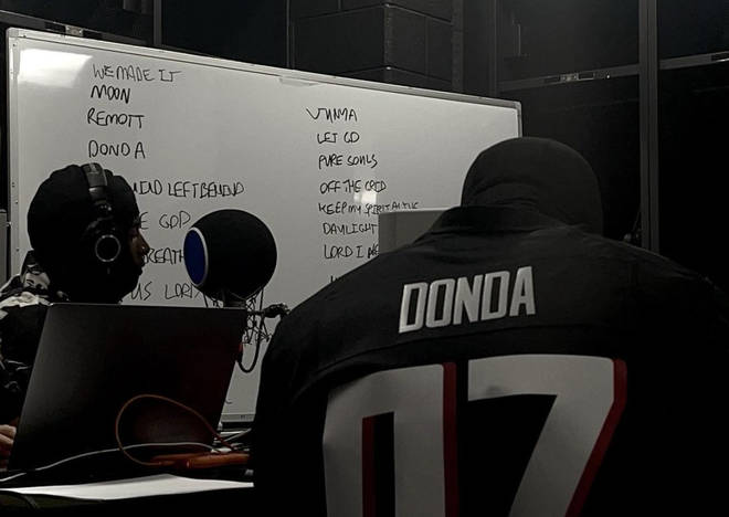 Kanye teased what appeared to be a tracklist for DONDA on Instagram.