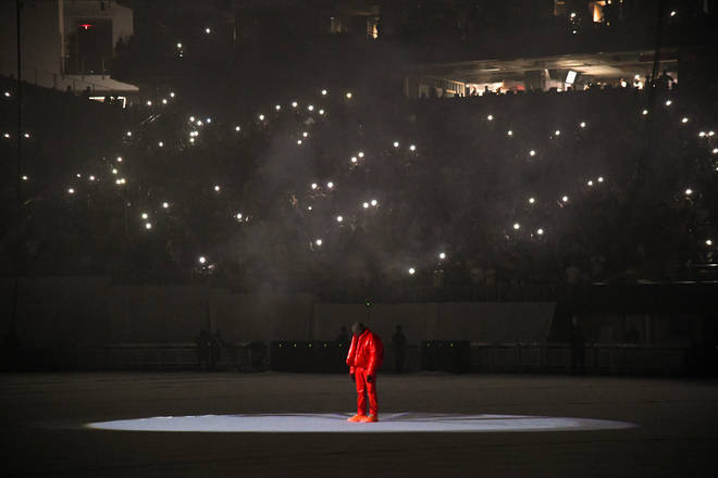 Kanye West sold out Mercedes-Benz Stadium in Atlanta with 42,000 fans for his 'Donda' listening event.