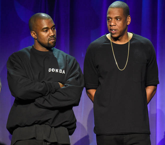 Kanye West and Jay-Z fans are excited the pair have collaborated on a track on 'Ye's new album 'Donda'.