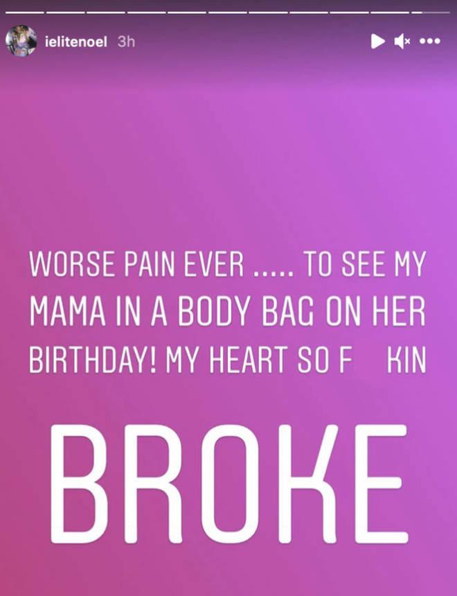 Elite Noel initially announced Frankie's passing on her Instagram story