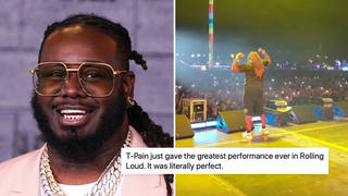 T-Pain fans react to his epic Rolling Loud Miami performance.