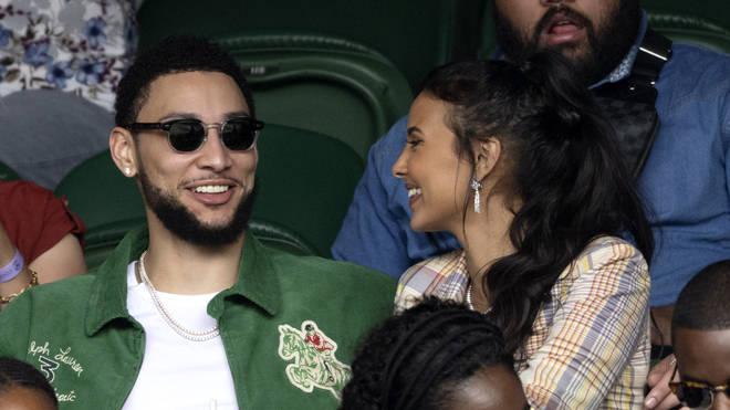 The couple sat together at Wimbledon