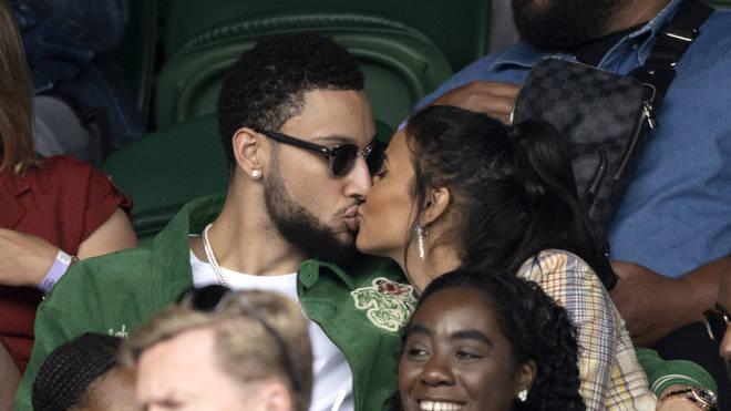 The pair shared a kiss