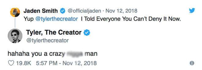 Jaden Smith Tweeting Tyler The Creator