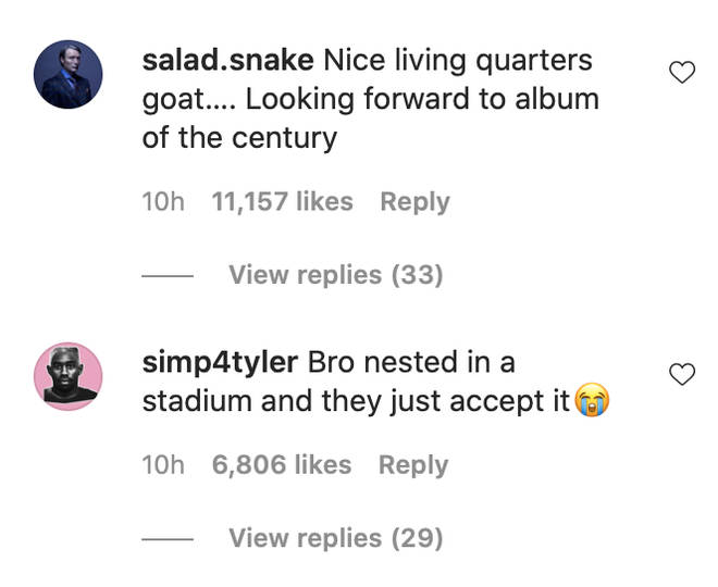 Fans had mixed responses in the rappers Instagram comments