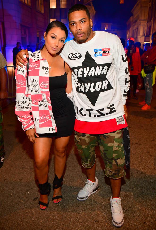 Shantel Jackson (left) has confirmed her split with longtime boyfriend Nelly.