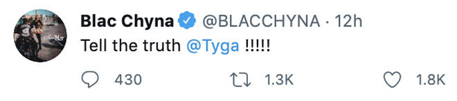 Blac Chyna taunts her ex-boyfriend Tyga on Twitter.