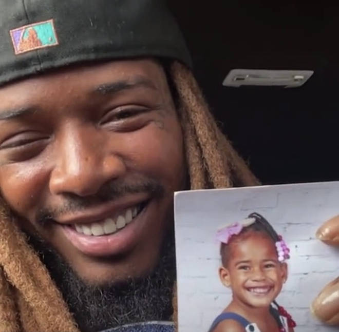Fetty Wap shows his fans a photo of his late daughter Laure Maxwell.